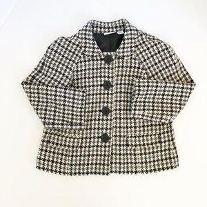 Kim Rogers Houndstooth Blazer Jacket Sz 12